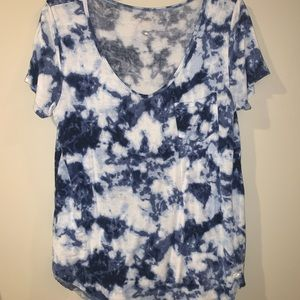 High low marble soft tee